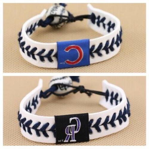 MLB Seam Bracelet Wristband Red Stitch
