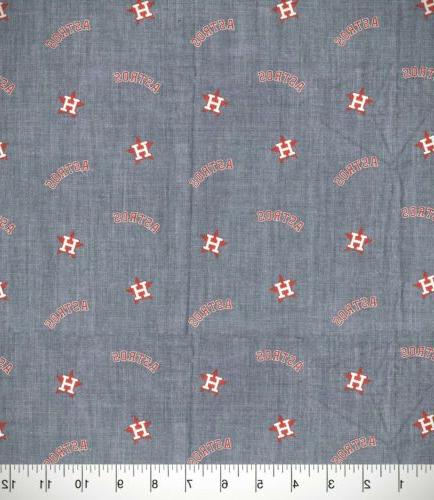 NEW! Baseball Chambray Quilting/Craft/Mask Fabric