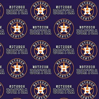 new mlb houston astros baseball cotton fabric