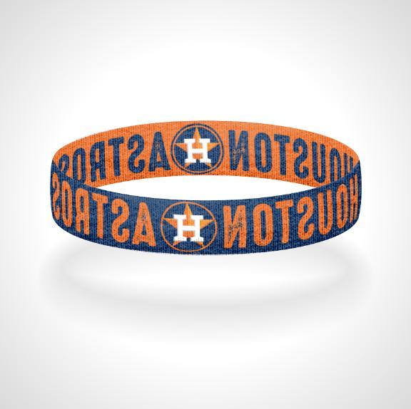reversible houston astros bracelet wristband