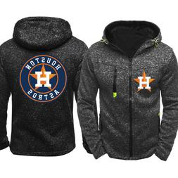 Men's Houston Astros Hoodie Baseball Sweatshirt Zip Up Jacke
