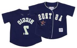 Mighy Mac MLB Boys Toddler Houston Astros Craig Biggio #7 Vi