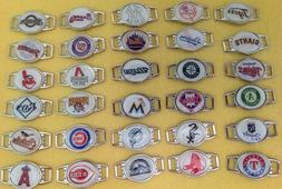 mlb baseball charm bracelet team color choose