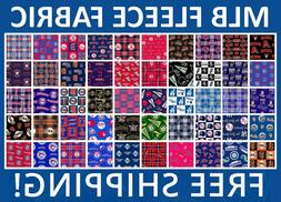 """MLB Fleece Fabric All Teams Sports Collection - 58-60"""" Wide"""