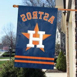 "MLB Houston Astros Applique Banner Flag 44""x 28"" Man Cave Sp"