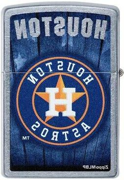 Zippo MLB Houston Astros, Baseball, Blue Background, Street