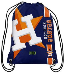 MLB Houston Astros Big Logo Side Stripe Drawstring Backpack