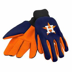 MLB Houston Astros Colored Palm Utility Gloves Navy w/ Orang