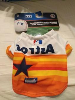 MLB HOUSTON ASTROS  Dog Pet Tee Shirt Jersey Size XS