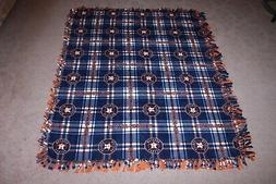MLB HOUSTON ASTROS Double-Thick Fleece Bedspread/Blanket/Thr