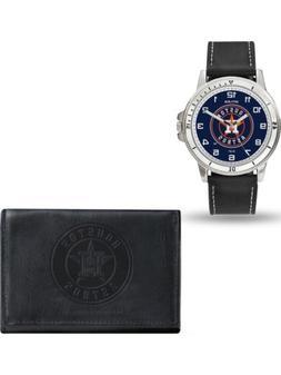 MLB Houston Astros Leather Watch/Wallet Set by Rico Industri