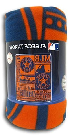 The Northwest Company MLB Houston Astros Printed Fleece Thro
