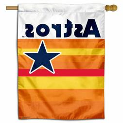MLB Houston Astros Throwback Vintage Retro House Flag and Ba