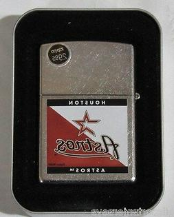 MLB NIB ZIPPO LIGHTER W/GIFT BOX - HOUSTON ASTROS - SPLIT CO