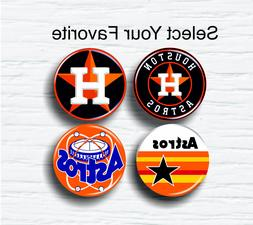 """Houston Astros MLB Pinback Buttons 1.25"""" Collectible Hat T-S"""