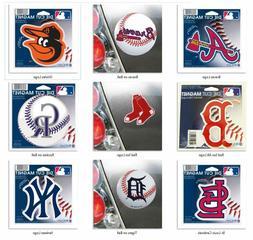 MLB Team Die Cut Logo 4 inch Auto Magnet by WinCraft -Select