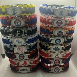 MLB Team Logo Paracord Bracelet Wrap Wristband