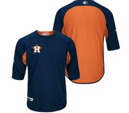 New Majestic Houston Astros Authentic Collection 3/4-Sleeve