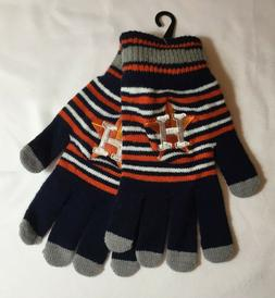NEW Houston Astros Logo Gloves Adult Men Size Tailgate Game