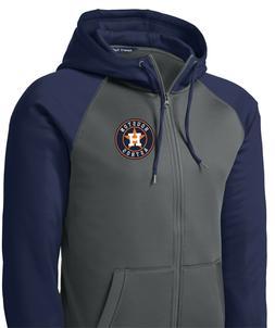 New Houston Astros Men's Hoodie Sweatshirt Full Zip Hooded J