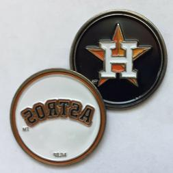 New Houston Astros MLB Two sided Golf Ball Marker