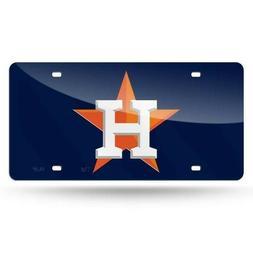 NEW MLB Houston Astros Acrylic Mirrored License Plate Tag, N
