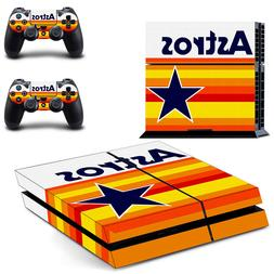 PS4 ORIGINAL - Houston Astros - Console Skin Set + 2 Control