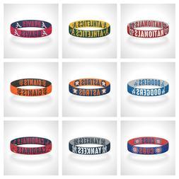 reversible mlb team mascots bracelet elastic stretch