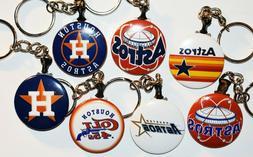 Set of 7 Key Chains HOUSTON ASTROS Logos RETRO Colt 45's