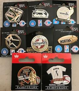 Set of 8 Houston Astros Vintage Logo Collector Pins BLOWOUT