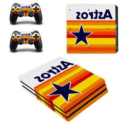 Sony PS4 PRO - Houston Astros - Vinyl Skin Sticker + 2 Contr